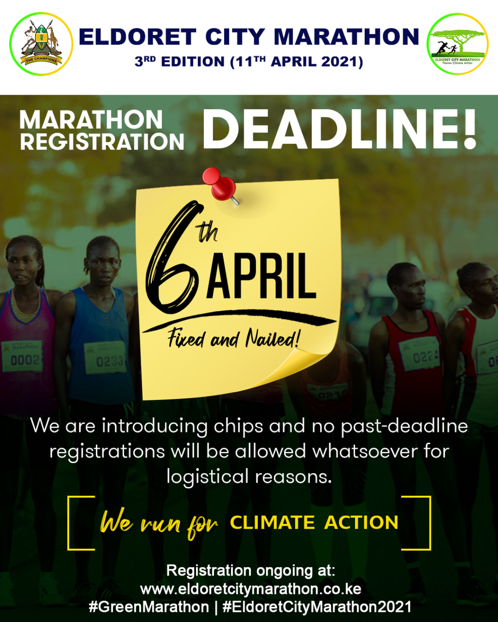 Registration Deadline for Eldoret City Marathon set for April 6, 2021